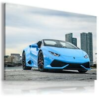 LAMBORGHINI HURACAN BLUE NEW YORK Car Wall Art Canvas AU471 MATAGA