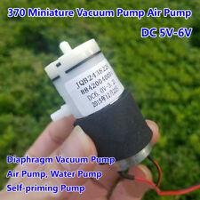 DC 5V 6V Micro Vacuum Pump 370 Air Water Pump Breast Pump Booster Pump 3.2L/Min