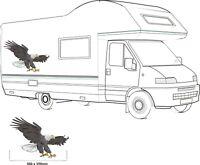 MOTORHOME VINYL GRAPHICS STICKERS DECAL CAMPER VAN RV CARAVAN 1 X SWOOPING EAGLE