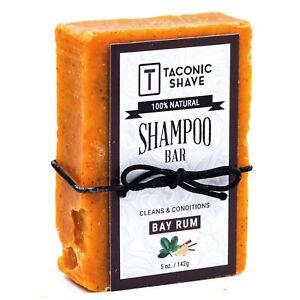 Taconic Shave Bay Rum Handcrafted Shampoo Bar - 100% Natural & Organic