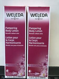 2 Weleda Pampering Body Lotion Wild Rose 6.8 oz  Exp 04/2022+