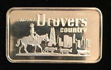 DROVERS NATIONAL BANK OF CHICAGO 999 SILVER ART BAR 1 TROY OZ SWISS-10