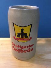 Gtuttgarter Hofbräu Stuttgarter 1L Stonewear Ceramic Beer Stein Germany Vintage