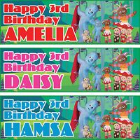 2x personalized birthday banner party In the Night Garden boys girls name age