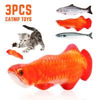 3 PCS 30 CM Drôle Cataire Poisson Chat Simulation En Peluche Pet Jouets Mâcher G