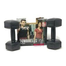 15 lb Set: 2 x 7.5 lb Aduro Sport Vinyl Coated Dumbbells *** New In Box ***