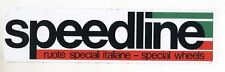 Adesivo SPEEDLINE Ruote speciali Special Wheels PROMO pubblicità sticker anni 80