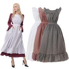 Pioneer Prairie Colonial Apron Civil War Reenactment Dress Acc White Maid Apron