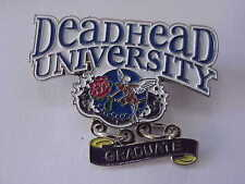 10 GRATEFUL DEAD - DEAD HEAD UNIVERSITY GRADUATE RELIX LE 1 3/4 in CLOISSONE PIN