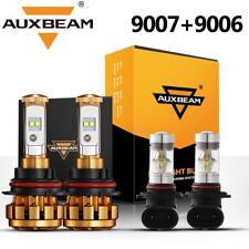 AUXBEAM HB5 9007 CREE LED Headlight+Fog Light 9006 For Dodge Ram 1500 2500 3500