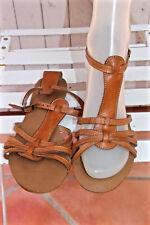 sandalias de piel marrón ANDRé tamaño 37 EXCELENTE ESTADO