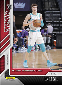 2021 Panini Instant LAMELO BALL RC #86 - NBA CAREER HIGH ASSISTS - (PRE-SALE)