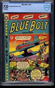 Blue Bolt #103 CBCS FN/VF 7.0 Off White