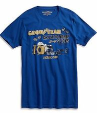 Lucky Brand Men's T shirt L Goodyear Championship Drags Slicks tee Blue NEW NWT