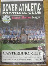 20/11/1990 dover Athletic V Canterbury CITY [larchimage COPPA finestra]. siamo PL