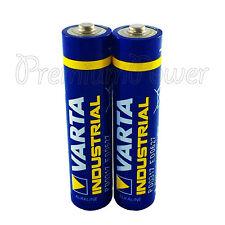 2 x Varta AAA batteries Alkaline Industrial LR03 Micro 4003 MN2400 FREE Shipping
