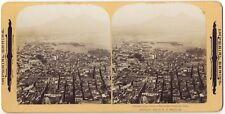 Panorama de Naples Napoli Italie Italia STEREO Stereoview Vintage argentique