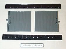 Lego 2 Sliding Doors for Cargo Train with Rails 10183 Dark Gray