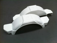 "BOAT TRAILER MUD GUARDS 10"" - 1 x PAIR - WHITE - AUSTRALIAN MADE"