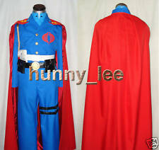 G.I.Joe Cobra Commander Cosplay Costume+Red Cape+Buckle Custom-Made