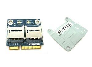 Sintech dual Micro SD/SDHC/SDXC to Mini PCIe PCI-e mPCIe Card reader adapter