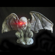 "Gothic Gargoyle Bat Lighted Eyes Scary Halloween Party Haunted House Prop 12"""