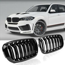 For BMW F16 X6 SUV 2015-2017 Gloss Black M Sport Front Kidney Grill Grille