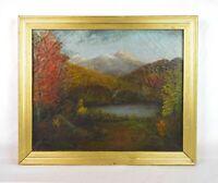 Vintage 19th Century White Mountain Landscape Oil Painting Mount Chocorua