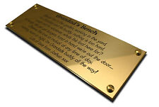 """6"""" x 2"""" Brass Engraved Plaque/Name plate. Deep Engraving in Solid Brass"""