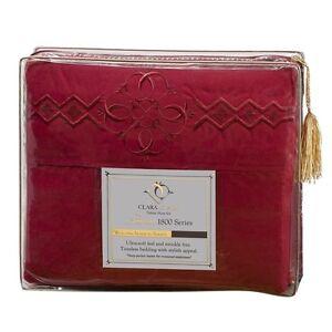 1800 SERIES BED SHEET SET - Clara Clark Logo Pillowcases - All Sizes & 12 Colors