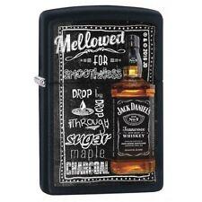 Zippo 2698 Jack Daniels Tennessee Whiskey Old No. 7 Black Matte Finish Lighter