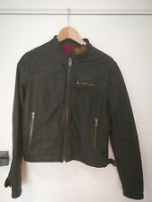 Superdry Women Green Leather Jacket