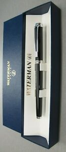 Waterman Harmonie Rollerball Pen  Black & Chrome Trim  Made in France New In Box