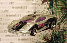 £10 JAGUAR XJ220 British Pound CHRISTMAS ORNAMENT Silver/Purple Sports Car XMAS