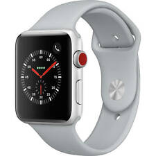 Apple Watch Series 3 42mm GPS and Cellular Silver Case Fog Sport Band MQK12LL/A