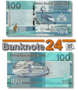 Gambia 100 Delasis 2019 Unc , Banknote, New, Birds Issue Pn 41a