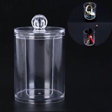 1Pc Acrylic organizer box round container storage make up cotton pad box