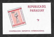 PARAGUAY Sc 714A NH issue of 1962 - SOUVENIR SHEET - OLYMPICS