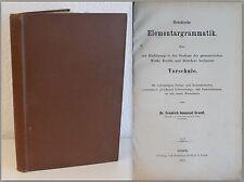 Grundt Hebräische Elementargrammatik 1875 mit Verbal und Nominaltabellen xz