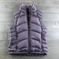 Patagonia Women's Sz Small Full Zip Goose Down Puffer Vest Purple Outdoor