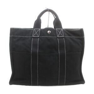 Hermes Tote Bag  Black Canvas 1528521