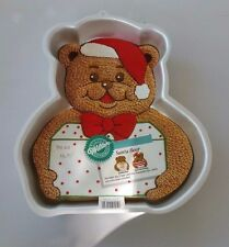 "Wilton Cake Pan ""Santa Bear"" Vintage 1991 #2105-4432 Used Once With Instructions"