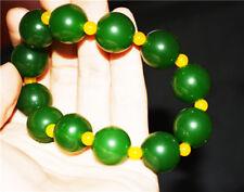 chinese hetian jade bracelet green beads jadeite jasper nephrite genuine hotan