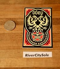 Obey Giant Shepard Fairey sticker Phoenix Art