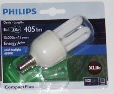 Philips Genie Longlife Energiesparlampe / 8 W / E14 / CompactFluo (6500k)(5)