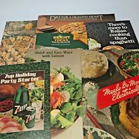 7 Vtg Promotional Cookbooks Fleischmanns Healthy Heart, Edison Electric w/Insert
