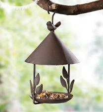 Garden Wild Bird Outdoor Feeder Seed Food Tree Hanging Gazebo cast Antique iron
