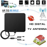 Antena de digital con amplificador señal HDTV TV ATSC Millas Interior Amplifier