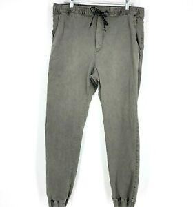 Men's American Eagle Drawstring Waist Jogger Pants Size Large Tall Grey Pockets