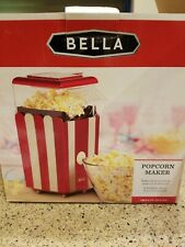 Bella 13554 Hot Air Popcorn Maker, Red and White.New in Box!
